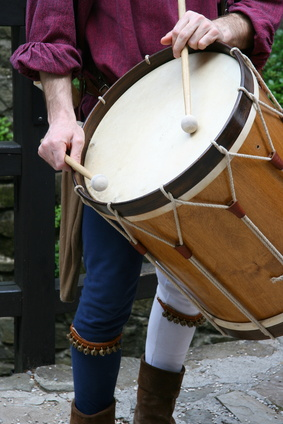 medieval percussionist